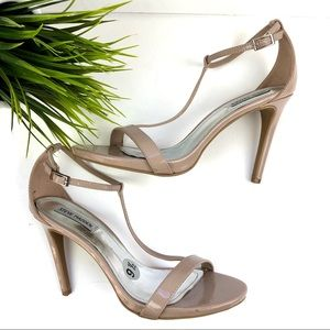 Steve Madden Fanny patent leather Nude Heels